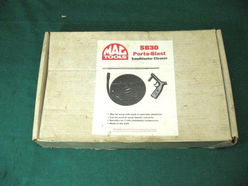 New mac tools hand-held siphon sand blaster nos  condition 7cfm