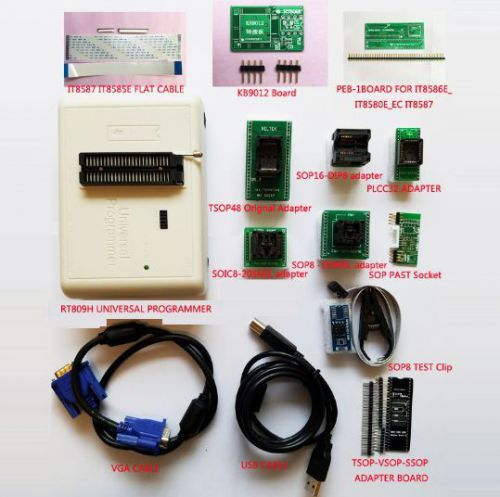 RT809H EMMC-Nand FLASH Programmer16 ORIGINAL ADAPTERS WITH