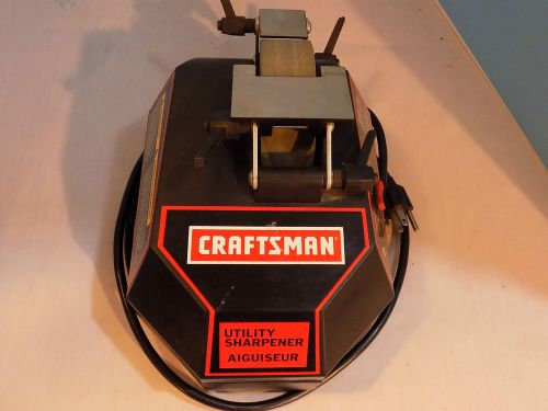 Craftsman utility sharpener wet stone forward and reverse adjustable supports