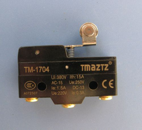 Tmaztz TM-1704 Short Hinge Roller Lever Momentary Micro Limit Switch, US $4.69 � Picture 1