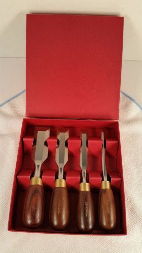 Reduced - crown/woodcraft boxed butt chisels, 4 piece