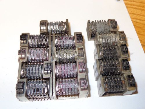 Fourteen (14) smaller size used letterpress numbering machines