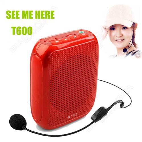T600 portable waistband voice booster pa amplifier loudspeaker w/ microphone fm