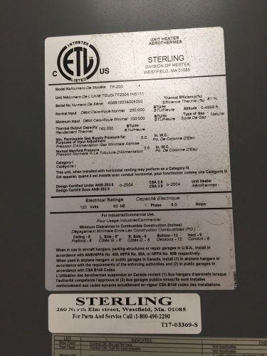 Bayhtr141000 American Standard Inc Supplementary Heater 4