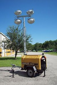 Allmand light towers night-lite pro,sho-hd,4-1250 watt bulbs,7.5kw,kubota diesel