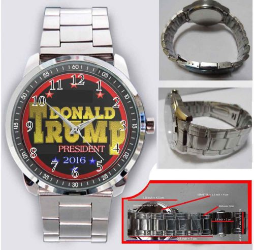 Donald trump for president 2016 usa flag sport metal watch men's