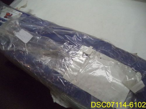26 ft long x 9.75 ft tall tmi blue curtain wall, grommets, clear middle, #4ee17