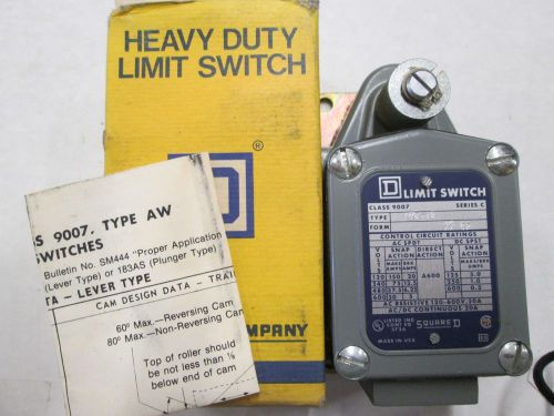 Square d 9007-tub12 heavy duty limit switch ser.c 9007tub12 new