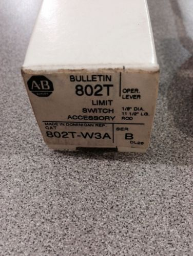 NEW IN BOX ALLEN BRADLEY LIMIT SWITCH OPERATING LEVER 802T-W3A SERIES B, US $25.00 � Picture 2