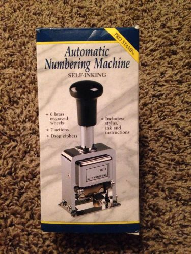 Rogers automatic numbering machine with ink bottle and stylus