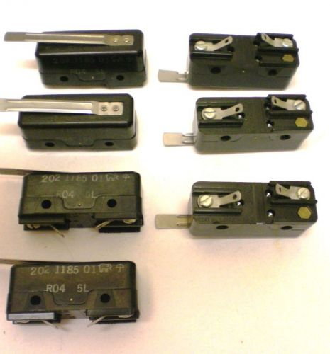 Robert shaw, lot of 7 limit switches with lever arm, spst new, made i usa