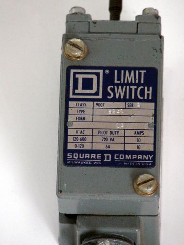 Square D Limit Switch, Class 9007, Type B54L, Ser A, V-AC 120-600, US $9.99 – Picture 1