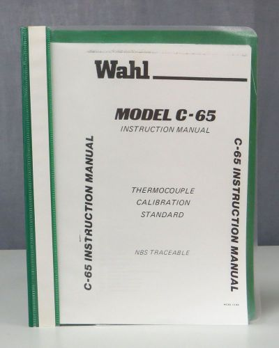 Wahl Model 9876 Instruction Manual