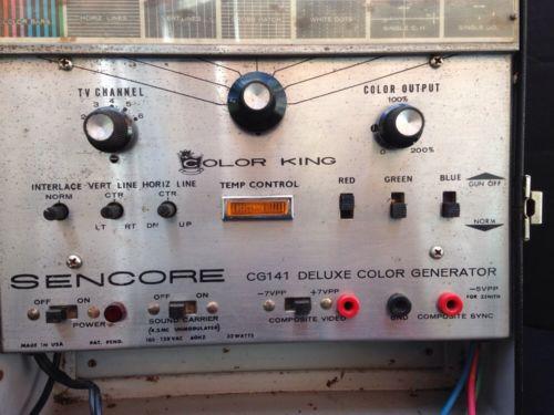 Sencore Deluxe Color Generator Model CG141~Vintage