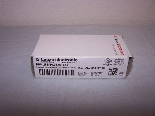 LEUZE PRK 25B/66 31 03-S12 PHOTOELECTRIC SENSOR 50112010 NEW IN BOX