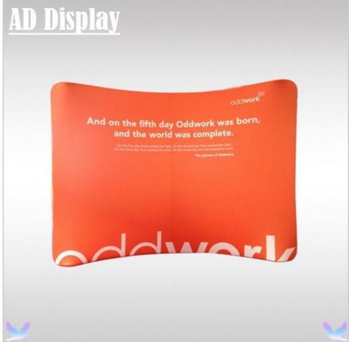 10ft x 7.5ft tension fabric  portable exhibition show advertising banner stand