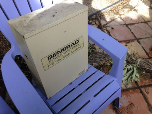 Generac rts transfer switch