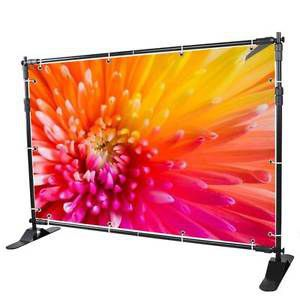 10'x8' banner stand adjustable for commercial trade show display exhibition us