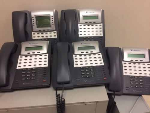 Lot of 5 vertical edge 100 business telephone