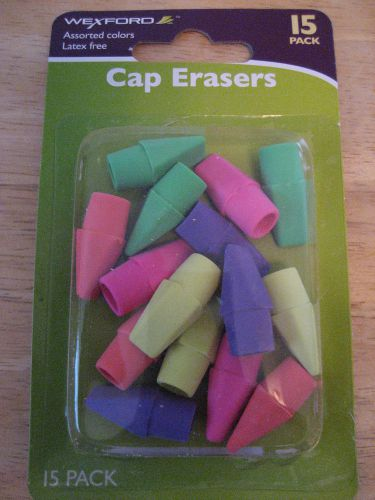 Pencil cap erasers *new* neon colors