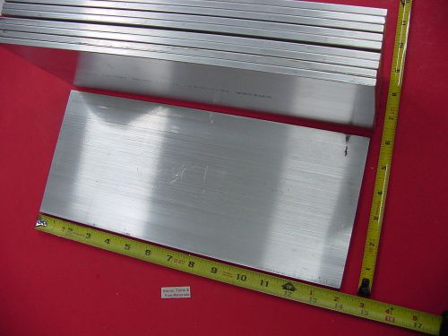 "10 pieces 1/4"" x 6"" aluminum 6061 t6511 solid flat bar 14"" long .250"" plate mill"