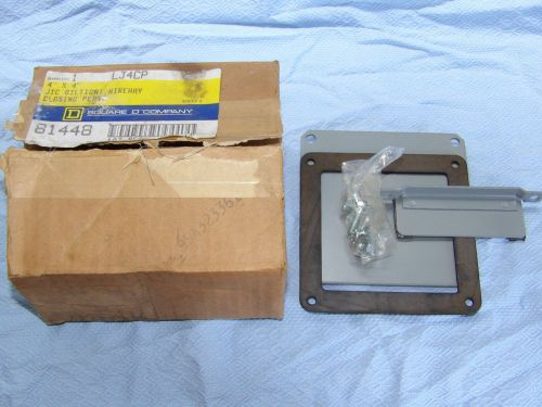Square d oiltight wireway closing plate  4 in x 4 in lc-4-cp lc4cp new in box