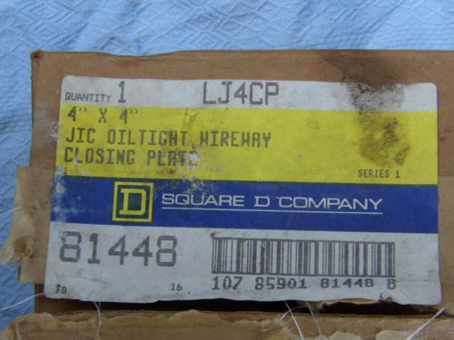 Square D Oiltight Wireway Closing Plate  4 In X 4 In LC-4-CP LC4CP New In Box, US $20.99 � Picture 3
