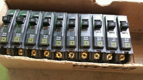 Stock of 10 sq/d 20 amps single bolton circuit breaker