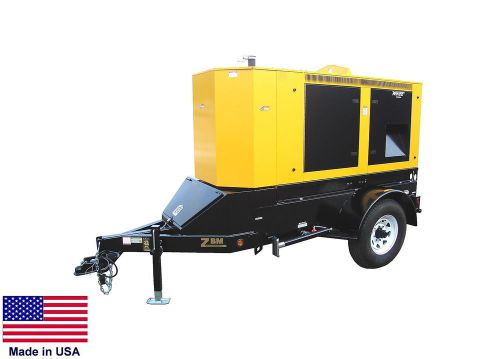 Generator - trailer mounted - diesel fired - 55 kva - made in the usa