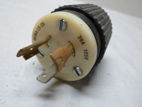 Used: bryant male plug 20a 125v nylon nema l5-20