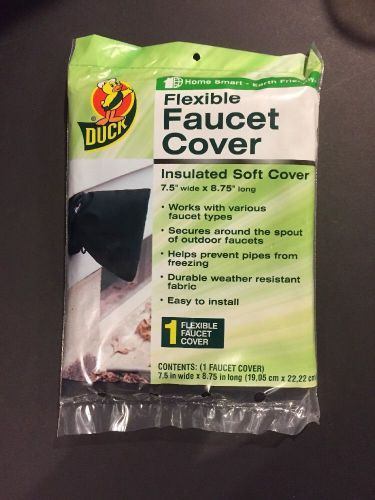 Duck g423 flexible faucet cover 7.5� w x 8.75� l helps prevent freezing