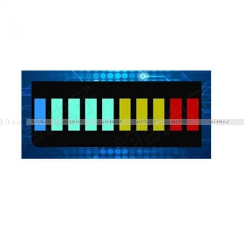 2pcs new 10 segment led bargraph light display red yellow green blue