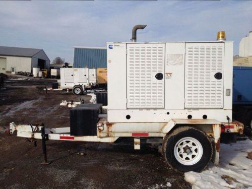 2004 cummins 35 kw generator portable with base tank reconnectable