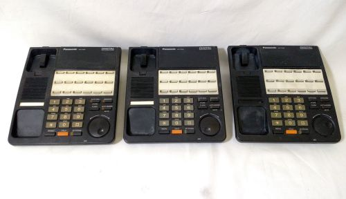 Lot of 3 panasonic telephones kx-t7420-b refurbished 12-line xdp kx-t7420b black