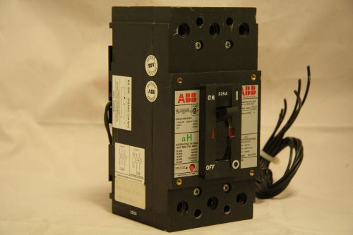 Abb type eh circuit breaker 225 amp 3 pole 600 vac shunt trip aux switch eh3225