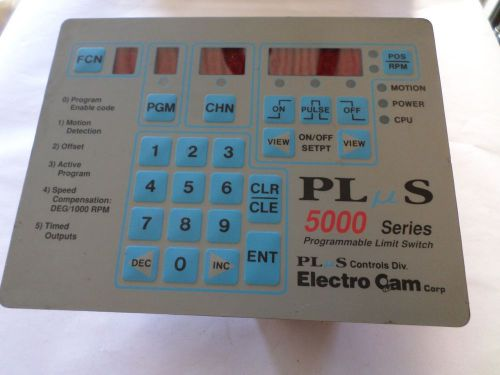 Electro cam ps-5011-10-p16-g plus 5000 series programmable limit switch