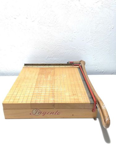 "Ingento paper cutter no. 3 trimmer wood guillotine 10"" art deco 1940's-1950's"