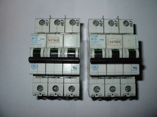 Lot of 2 general electric ge circuit breaker   v-line b13
