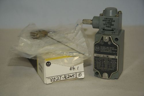 Allen bradley 802t-al2w5 oiltight limit switch nema 13 bulletin 802t new in box