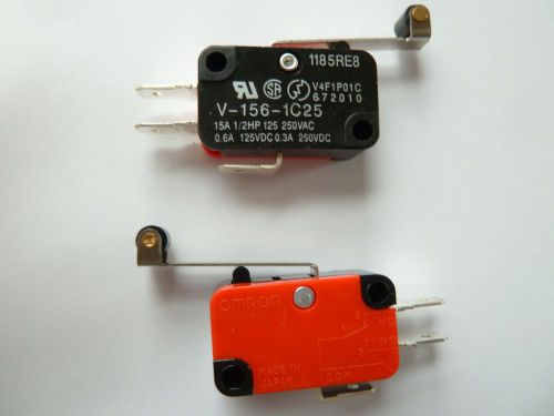 2pcs Roller Lever Arm Micro Switches AC 250V HV-156-1C25, US $2.99 � Picture 1