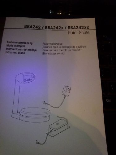 Mettler Toledo bba242 X XX Paint Scale Users Manual Mixing