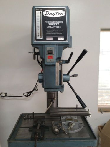 20 Quot Variable Speed Drill Press Mill Manual Feed Dayton