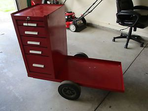 Craftsman / kennedy tool chest roller cart & hang on 5 drawer side cabinet, ex