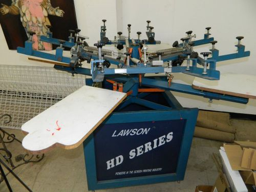 Silkscreen press- lawson hd- 4 color/4 station-  floor standing, dryer