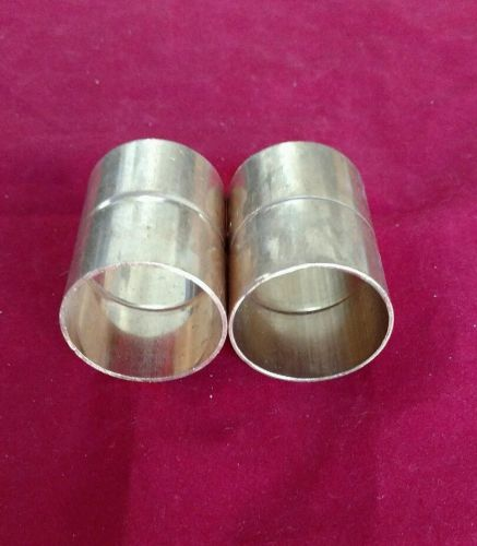 "Wrot copper coupling with stop fit's 1-5/8"" o.d. [1-1/2"" nom.] braze - lot of 2"