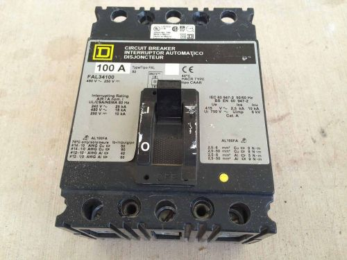 Fal34100 square d 100 amp circuit breaker, free shipping