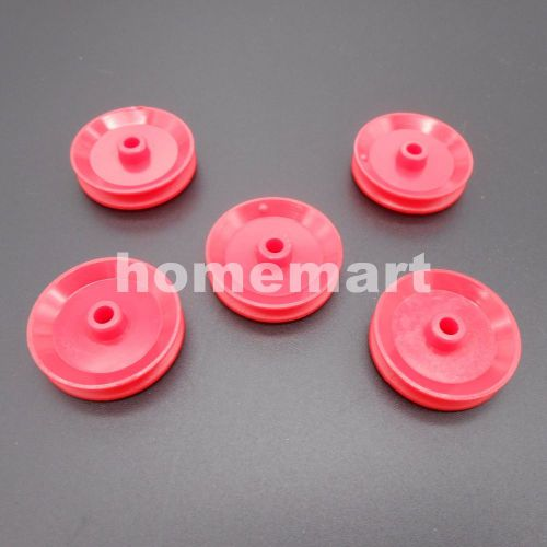 10pcs pulley plastic gears toy wheels concave dia.29mm th= 5.8mm aperture: 3.9mm
