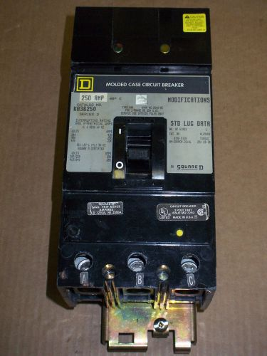 Square d ka 3 pole 250 amp 600v ka36250 circuit breaker gray label