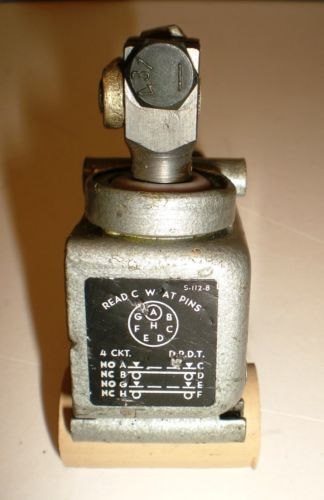 "Switch Assembly-Hermetic, ""Electro-Snap Switch, Mfg Co""., 2"" Roller Lever, USA � Picture 2"