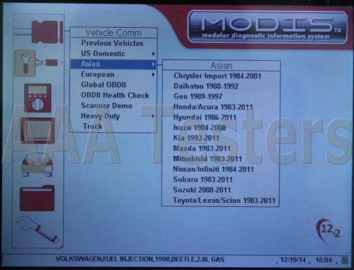 Snap-On Modis EEMS300 V 12 2 Automotive Diagnostic Tool Scanner EEMS